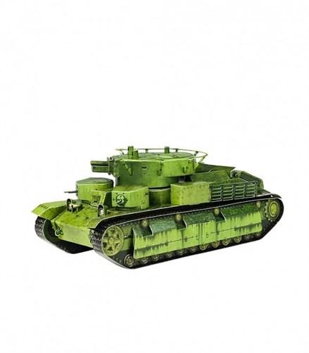 Сборная модель из картона. Серия: Бронетехника. Масштаб 1/35. Танк Т-28 - фото 55630