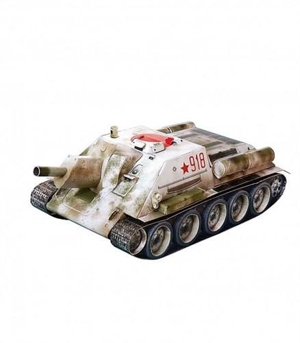 Сборная модель из картона. Серия: Бронетехника. Самоходная артиллерийская установка  СУ-122 - фото 55640
