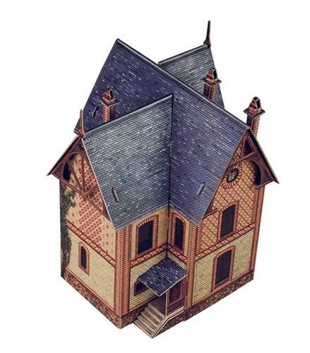 """""""Вилла в Везине"""". Сборная модель из картона. Масштаб НО 1/87 - фото 55688"""