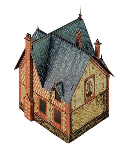 """""""Вилла в Шато"""". Сборная модель из картона. Масштаб НО 1/87 - фото 55703"""