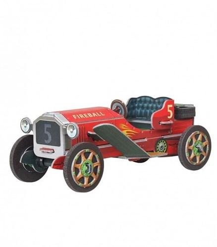 """Сборная игрушка из картона """"Машинка (красная)"""" - фото 55941"""