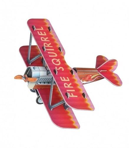 """Сборная игрушка из картона """"Самолетик (красный)"""" - фото 55952"""