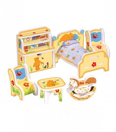 """Объемный пазл. Сборная игрушка """"Детская мебель"""". Материал: картон + изолон. Формат: mini - фото 56050"""