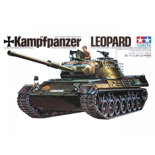 "Западно-германский танк Leopard ""Standard Panther"" 1963г. c 105-мм пушкой и 1 фигурой командира - фото 60786"