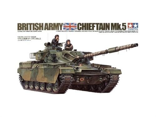 Английский танк Chieftain Mk.5 1960г. с 120-мм пушкой и 3 фигурами - фото 60791