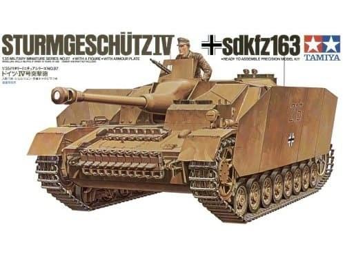 САУ на гусеничном ходу Sturmgeschutz IV(sdkfz163) с бронир.гусен.экранами и 1 фигура танкиста - фото 60797