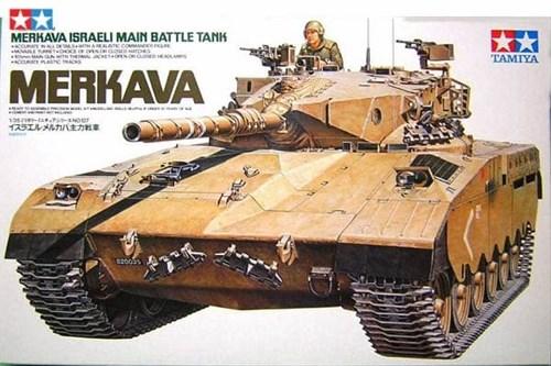 Израильский танк Merkava с 105-мм пушкой и 1 фигурой танкиста - фото 60810