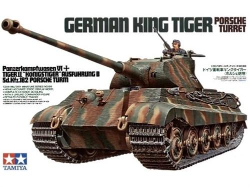 "Танк KING TIGER ""Porsche Turret"" с 1 фигурой танкиста - фото 60839"