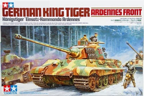 "Танк King Tiger ""Ardennes Front"", мотоцикл DKW NZ350 и 3 фигуры - фото 60912"