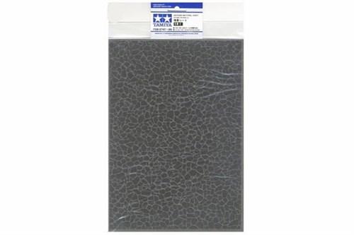 Материал для диорам на бумажной основе,  булыжная мостовая (крупная), размер А4 (297х210мм). Может краситься эмалевыми и акриловыми красками - фото 62217