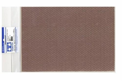 Материал для диорам на бумажной основе,  кирпичная кладка коричневая, размер А4 (297х210мм). Может краситься эмалевыми и акриловыми красками - фото 62219