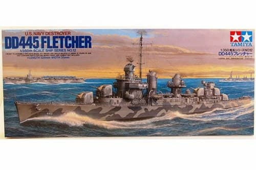 1/350 американский эсминец DD445 Fletcher - фото 62486