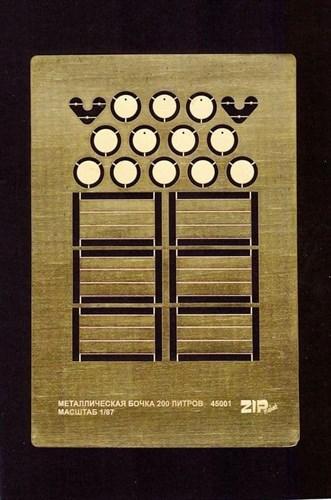 Металлическая Бочка 200 Литров (масштаб 1/87) - фото 62990