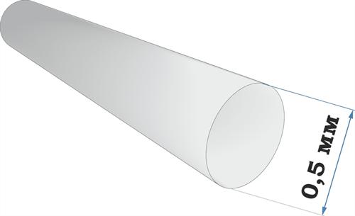 Пластиковый профиль пруток диаметр 0,5 длина 250 мм - фото 63000