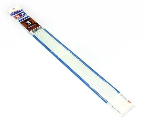 Пластиковые стержни (круглые белые матовые) диаметром 3мм длиной 40см (10шт), полистирин - фото 63663
