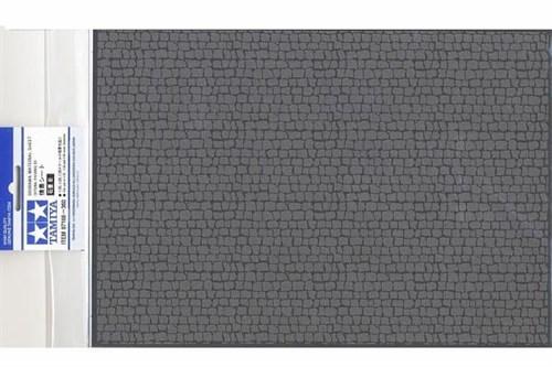 Материал для диорам на бумажной основе,  булыжная мостовая (средняя), размер А4 (297х210мм). Может краситься эмалевыми и акриловыми красками - фото 64698