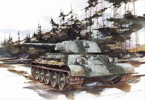 Танк  T-34/76 Mod. 1941 (1:35) - фото 65021