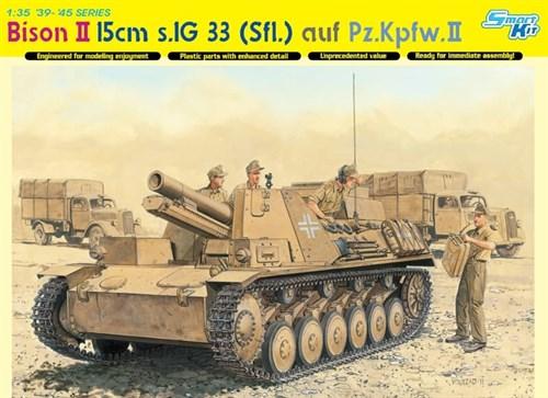 САУ Bison II 15cm sIG 33(Sfl) auf Pz.Kpfw.II  (1:35) - фото 65027