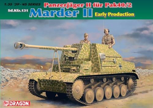 Сау Panzerjager Ii Fur Pak40/2,Sd.Kfz131 Marderii Early Production(1:35) - фото 65056
