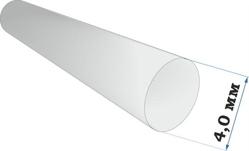 Пластиковый профиль пруток диаметр 4,0 длина 250 мм - фото 65217