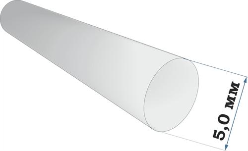 Пластиковый профиль пруток диаметр 5,0 длина 250 мм - фото 65218