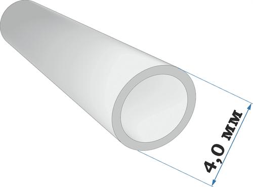 Пластиковый профиль трубка диаметр 4,0 длина 250 мм - фото 65223