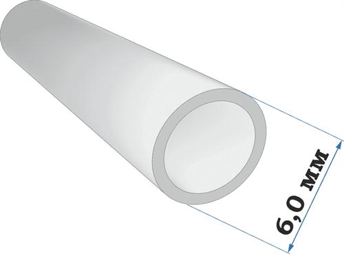 Пластиковый профиль трубка диаметр 6,0 длина 250 мм - фото 65225
