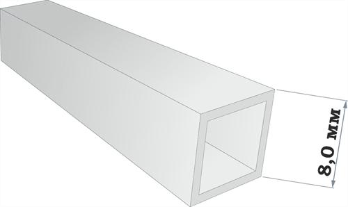 Пластиковый профиль квадратная трубка 8*8 длина 250 мм - фото 65236
