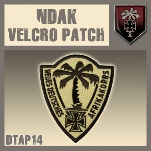 "NDAK Velcro Patch / Нашивка ""НДАК"" - фото 67149"