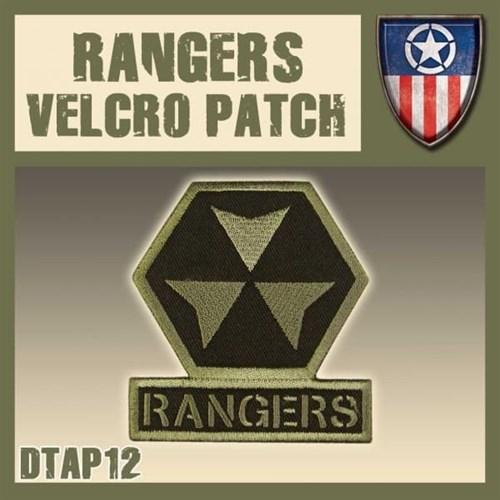 "Rangers Velcro Patch / Нашивка ""Рейнджеры"" - фото 67151"