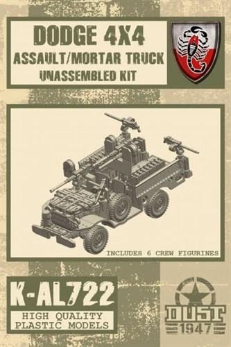 ASSAULT/MORTAR TRUCK Dodge 4x4 (не собран не окрашен) Штурмовая / Минометная машина - фото 68944