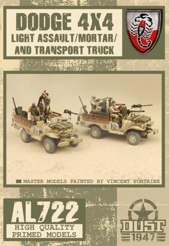 DESERT SCORPIONS ASSAULT / MORTAR TRUCK (собран и загрунтован) Пустынные Скорпионы штурмовая / минометная машина - фото 70331