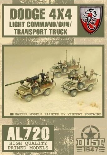 Dodge 4x4 Light Command/Gun/Transport truck (собран и загрунтован) Пустынные Скорпионы Машина - фото 70357