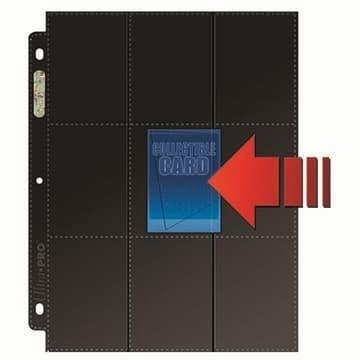 Черный лист Ultra-Pro (3х3) - 3 отверстия - фото 72773