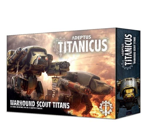 Adeptus Titanicus Warhound Scout Titans - фото 73558