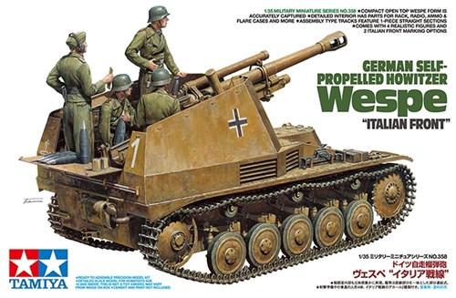 105-мм гаубица на шасси Pz-II  Sd.Kfz.124 Wespe, итальянский фронт, с 4 фигурами. - фото 73626