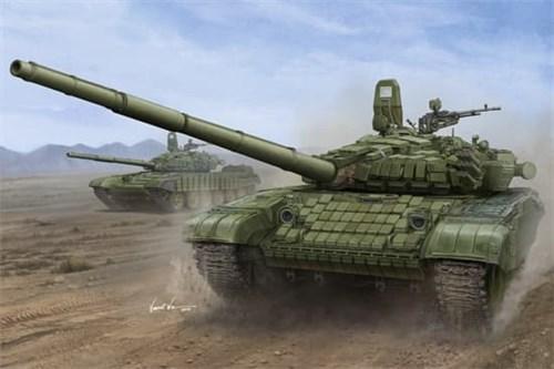 Russian T-72B1 MBT (w/kontakt-1 reactive armor)  (1:16) - фото 74263
