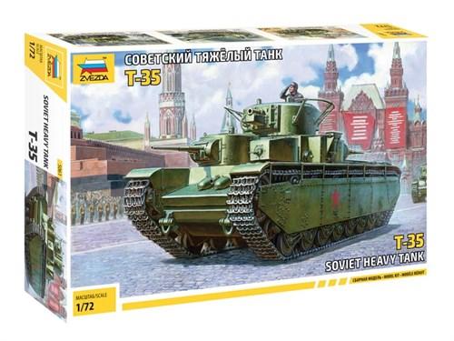 Танк  Советский тяжелый танк Т-35   (1:72) - фото 74599