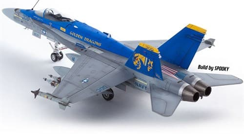 "Самолет  USN F/A-18C ""VFA-192 Golden Dragons""  (1:72) - фото 75536"