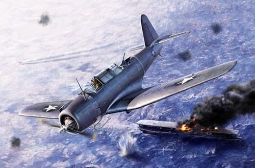 "Самолет  SB2U-3 Vindicator ""Battle of Midway""  (1:48) - фото 75651"