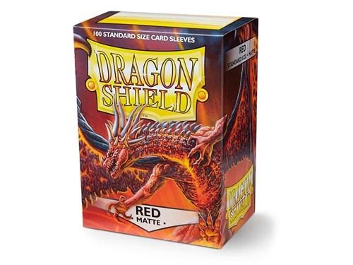 Dragon Shield - Красные матовые протекторы 100 ук - фото 76879