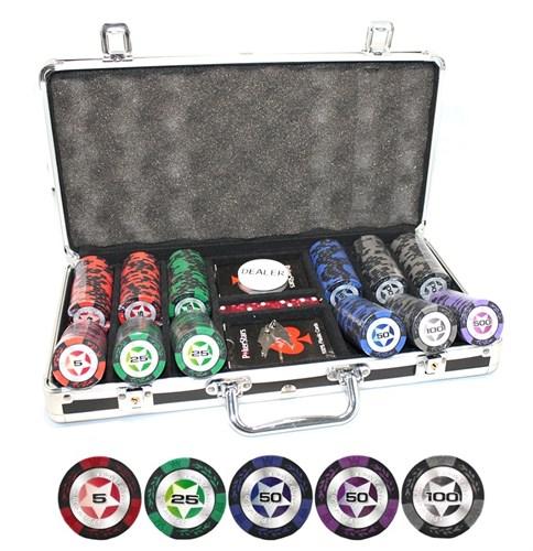 """""""STARS 300 Ultra"""" Профессиональный набор для покера на 300 фишек по 14 грамм. - фото 76928"""