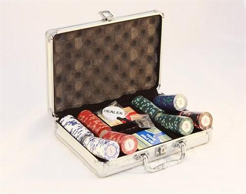"""""""Casino Royale Premium 200"""" Профессиональный набор для игры в покер.200 фишек по 14 грамм, 2 колоды карт. - фото 76933"""