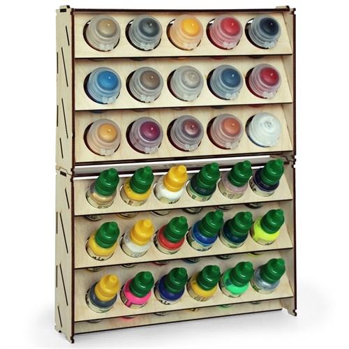 Набор подставка для красок 15 баночек (Citadel) + 18 баночек (Vallejo) - фото 79141