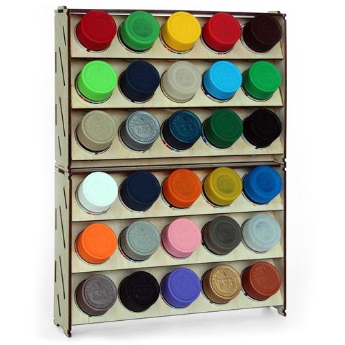 Набор подставка для красок 30 баночек (Tamiya) - фото 79153