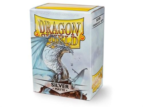 Dragon Shield - Серебряные матовые протекторы 100 ук - фото 80244