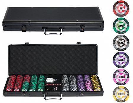 """""""STARS Old 500 """" Профессиональный набор для покера на 500 фишек - фото 83956"""