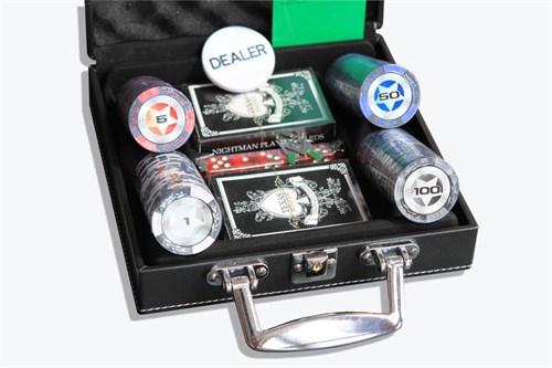 """""""Stars 100 L"""" набор для игры в покер, 100 фишек - фото 83961"""
