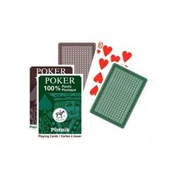 """Игральные карты """"100% Пластик-Покер"""",  55 листов - фото 83971"""