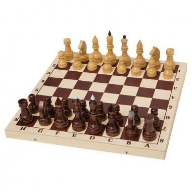 Шахматы турнирные утяжеленные в комплекте с доской - фото 84428